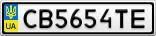 Номерной знак - CB5654TE