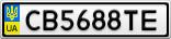 Номерной знак - CB5688TE