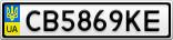 Номерной знак - CB5869KE