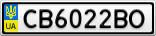 Номерной знак - CB6022BO