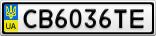 Номерной знак - CB6036TE