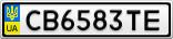 Номерной знак - CB6583TE