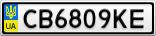 Номерной знак - CB6809KE