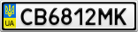Номерной знак - CB6812MK