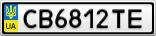 Номерной знак - CB6812TE