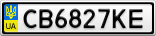 Номерной знак - CB6827KE