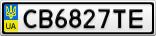 Номерной знак - CB6827TE