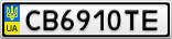 Номерной знак - CB6910TE