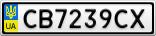 Номерной знак - CB7239CX