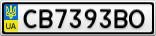 Номерной знак - CB7393BO