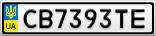 Номерной знак - CB7393TE