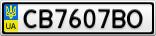 Номерной знак - CB7607BO