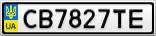 Номерной знак - CB7827TE