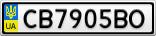 Номерной знак - CB7905BO