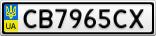 Номерной знак - CB7965CX