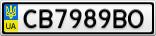 Номерной знак - CB7989BO