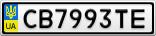 Номерной знак - CB7993TE