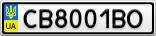 Номерной знак - CB8001BO
