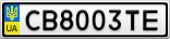 Номерной знак - CB8003TE