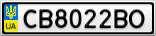 Номерной знак - CB8022BO