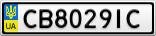 Номерной знак - CB8029IC