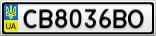 Номерной знак - CB8036BO
