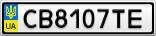 Номерной знак - CB8107TE
