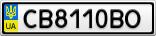 Номерной знак - CB8110BO