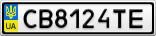 Номерной знак - CB8124TE