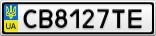 Номерной знак - CB8127TE