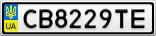 Номерной знак - CB8229TE