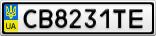 Номерной знак - CB8231TE