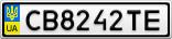 Номерной знак - CB8242TE