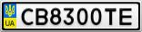 Номерной знак - CB8300TE