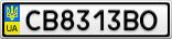 Номерной знак - CB8313BO