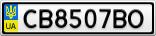 Номерной знак - CB8507BO