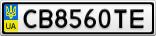 Номерной знак - CB8560TE