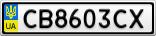 Номерной знак - CB8603CX