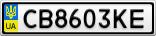 Номерной знак - CB8603KE