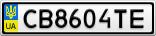 Номерной знак - CB8604TE