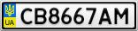 Номерной знак - CB8667AM