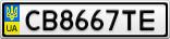 Номерной знак - CB8667TE