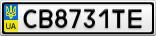 Номерной знак - CB8731TE