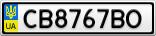Номерной знак - CB8767BO
