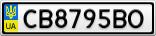 Номерной знак - CB8795BO