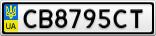 Номерной знак - CB8795CT