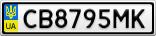 Номерной знак - CB8795MK