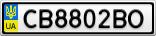 Номерной знак - CB8802BO