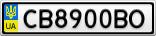 Номерной знак - CB8900BO