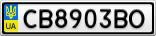 Номерной знак - CB8903BO